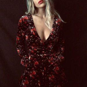•Charlotte Russe• velvety floral romper